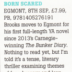 Born Scared (Egmont UK) - Bookseller editor's choice